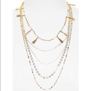 Rebecca Minkoff Layered Necklace Metallic Tassels